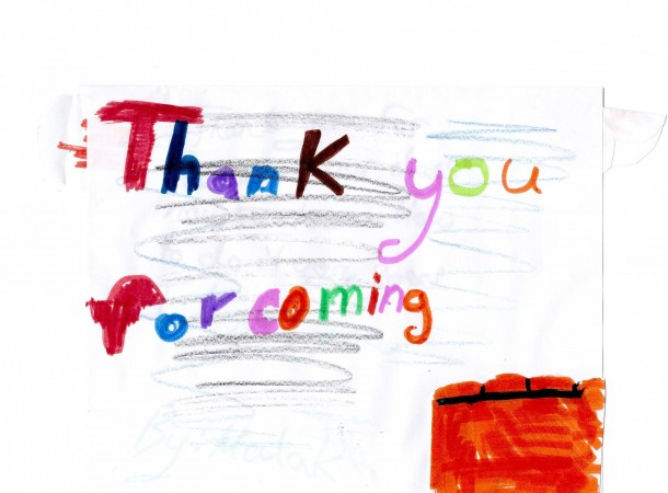 <span>Dr. Hadad's visit fo Grade 3/4 students:</span> Thank you letters from the students afterwards.